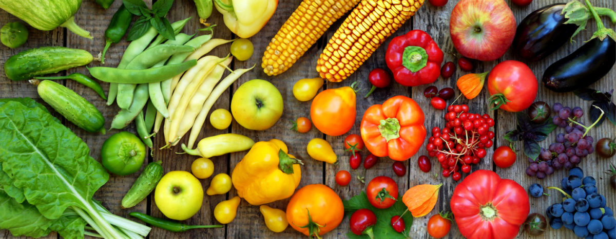 yellow, orange and red fruits and vegetables